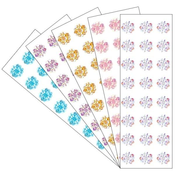 Kristallkunst, Schmuckstein Blüte 2, 10cm x 30cm, selbstklebend, verschiedene Farben, 5 Stück
