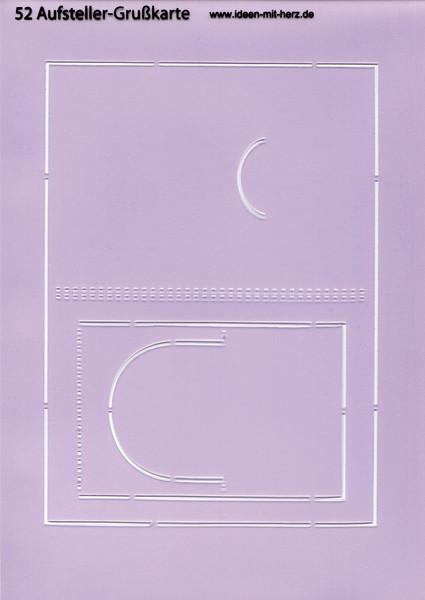 """Design-Schablone Nr. 52 """"Ausfsteller-Grußkarte"""", DIN A4"""