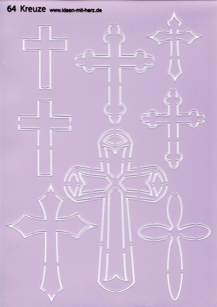 "Design-Schablone Nr. 64 ""Kreuze"", DIN A4"