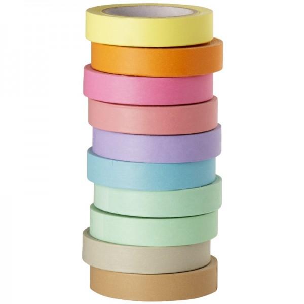 Deko-Klebeband, uni-farben, 8mm x 10m, 10er Set
