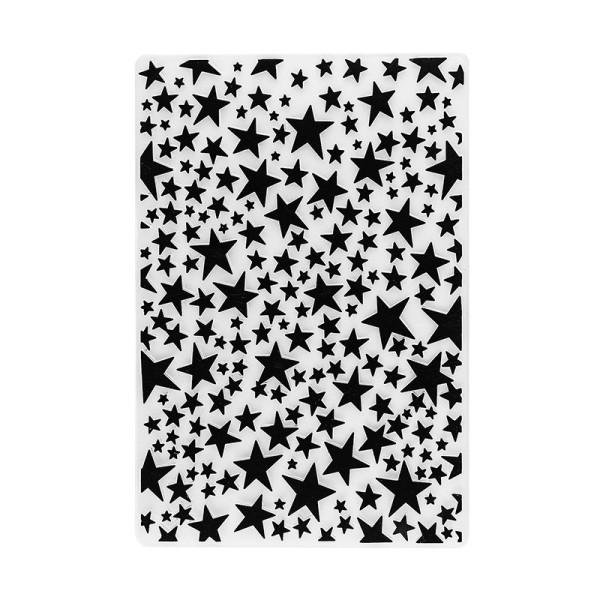 Prägeschablone, Hintergrund Sterne, 15cm x 10cm