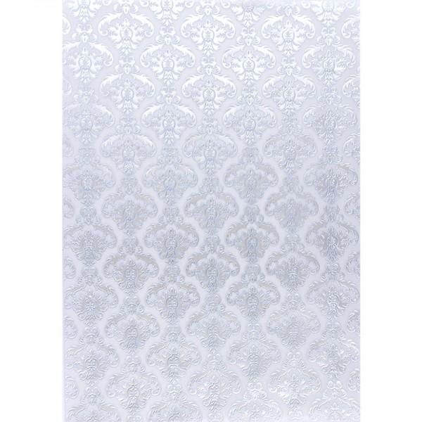 Transparentpapiere, Nova Noblesse 2, mit Top-Prägung & Perlmuttlack, DIN A4, 5 Bogen, taubenblau