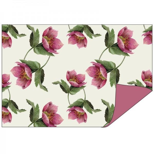 Faltpapiere Duo-Design 19, 10cm x15cm, Blumen/beere, 50 Stück