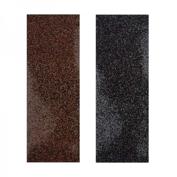 """Stoffe Royal """"Pailletten"""", selbstklebend, 10 x 29 cm, 2 Stück, braun & schwarz"""