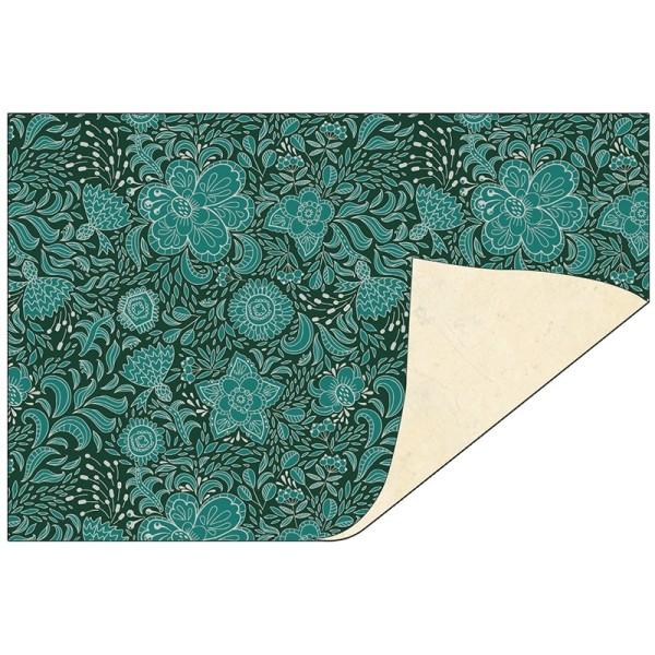 Faltpapiere Duo-Design 28, 10x15 cm, Ornamente/creme, 50 Stück