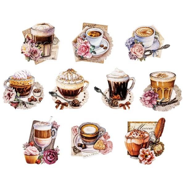 3-D Motive, Kaffeevielfalt, 7,5-10cm, 10 Motive