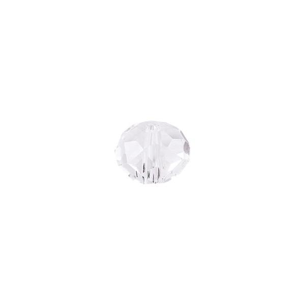 Perlen, Rondelle, facettiert, 0,6cm x 0,4cm, transparent, 30 Stück