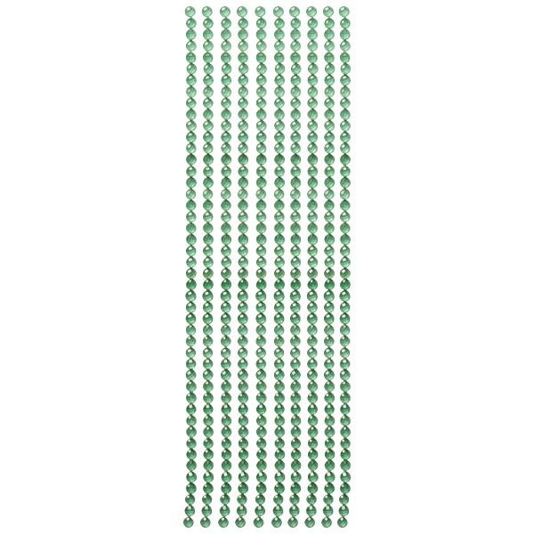 Kristall-Bordüren, selbstklebend, Ø6mm, smaragd
