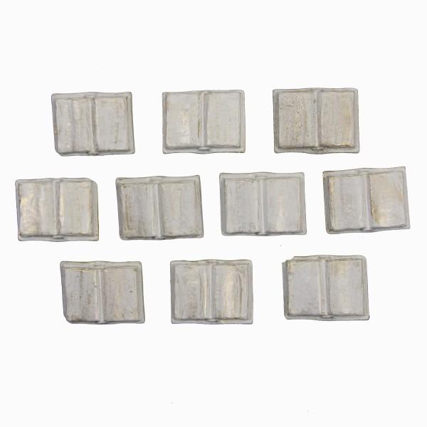 Relief-Bücher, 2 x 2,5 cm, 10er Set