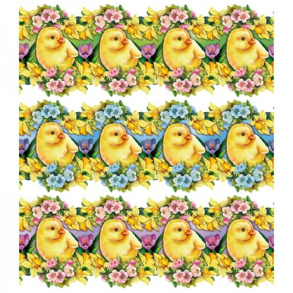 """Zauberfolien """"Osterküken"""", Schrumpffolien für Eier mit 9,5cm x 6,5cm, 7,6cm hoch, 6 Stück"""