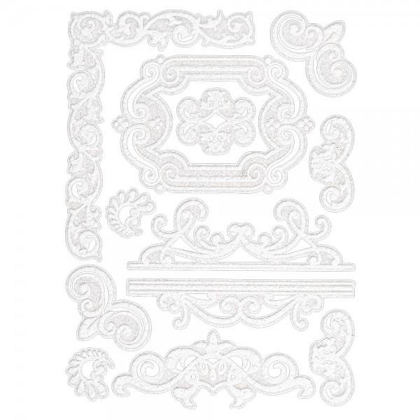 Velours-Stickerbogen, 15 x 11cm, Ornamentik, Design 11