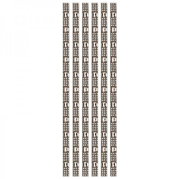 Royal-Schmuck, 6 selbstklebende Bordüren, 29 cm, dunkelbraun