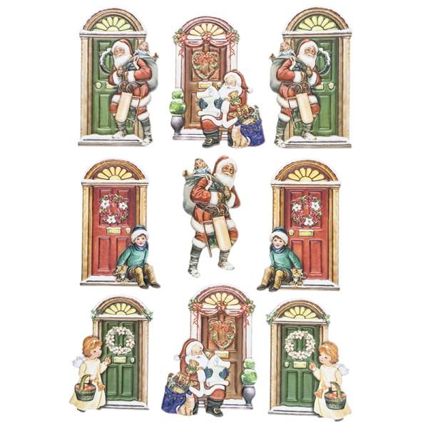 3-D Relief-Sticker, Türen 2, versch. Größen, selbstklebend