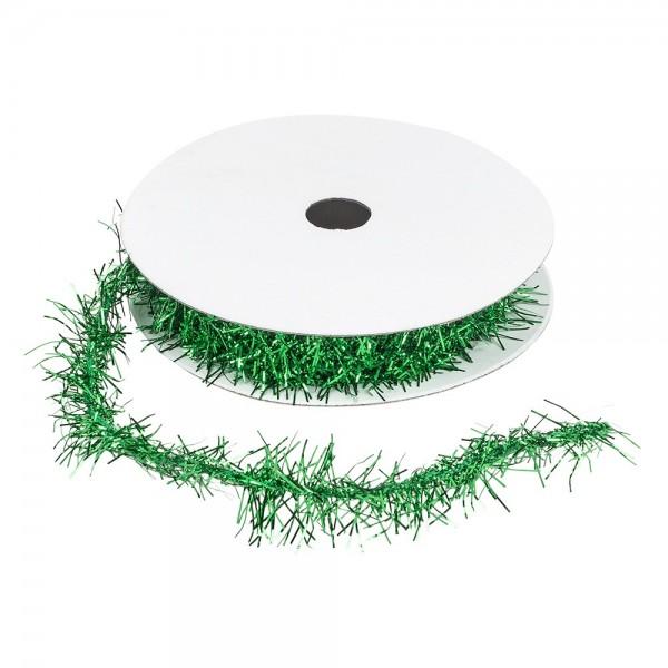 Lametta-Band, Ø 1cm, 2m lang, metallic-dunkelgrün