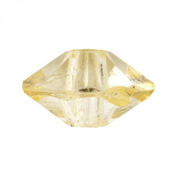 Facetten-Perlen, transparent, Ø6mm, gelb, 100 Stück