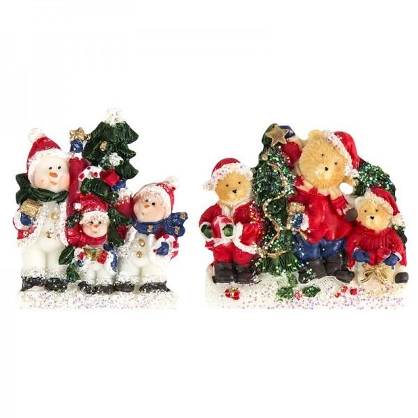 Relief-Weihnachtsszene, 2 Stück