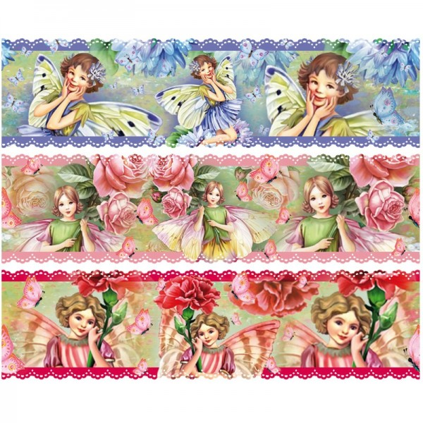 """Zauberfolien """"Elfen"""", Schrumpffolien für Ø6cm, 6 cm hoch, 6 Stück"""