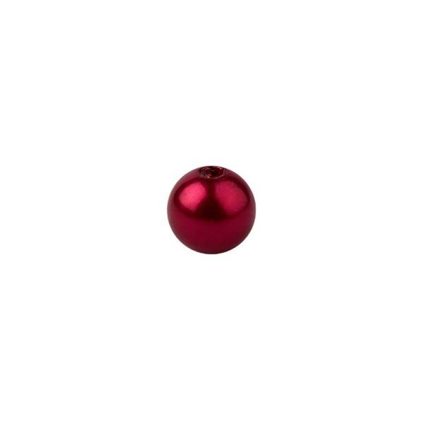 Perlen, Perlmutt, Ø 6mm, rot, 150 Stück