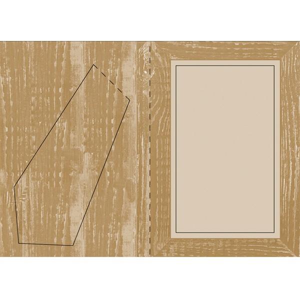Bilderrahmen-Karte, Classic Wood, B6