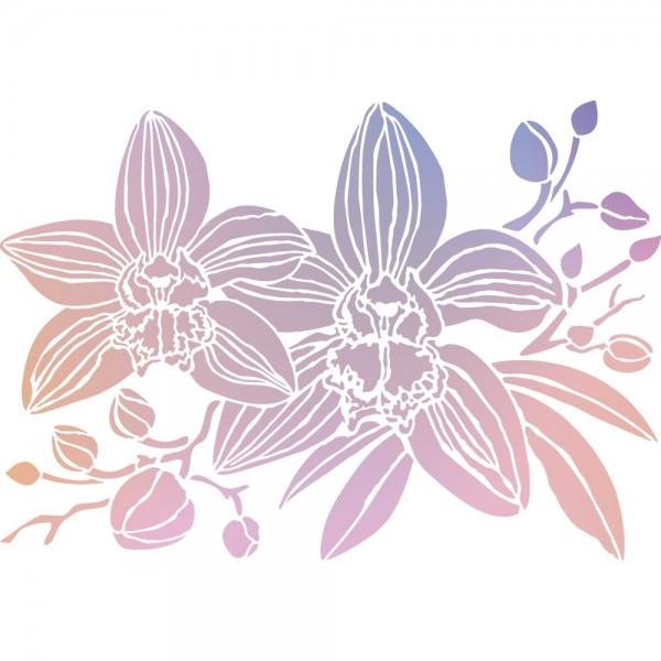 Folien-Bügeltransfer, Orchideen 1, DIN A4, rosé