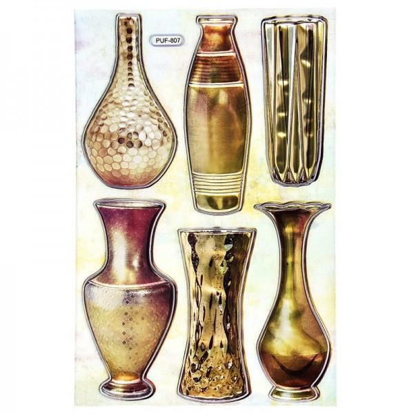 Relief-Sticker, Vasen 2, 18,5cm x 12,5cm