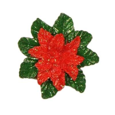 Relief-Weihnachtssterne mit Glimmer, 3,5 x 3,5 cm, 10er Set