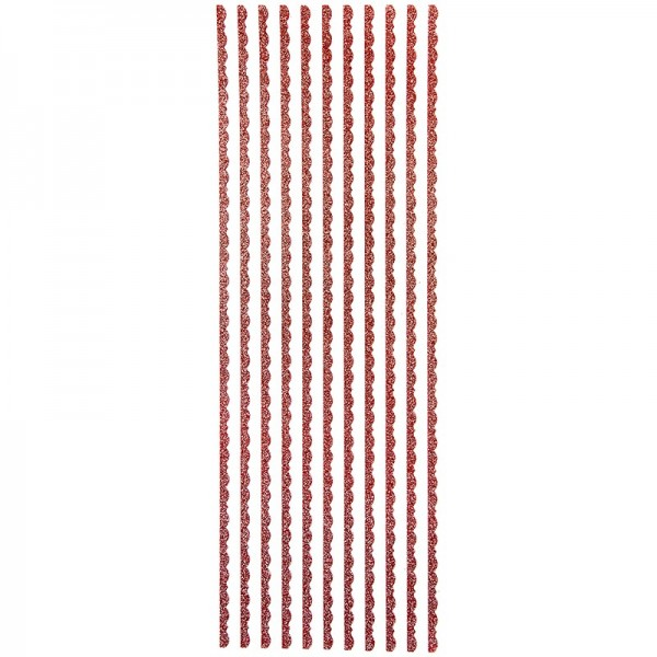 "Glitzer-Bordüren ""Lilia"", selbstklebend, 10cm x 30cm, rot"