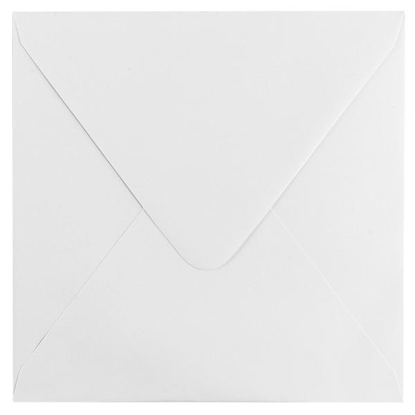 Umschläge, 17x17cm, weiß, 100 Stück