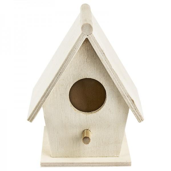 Vogelhäuschen aus Holz, Design 5, 10,4cm x 8,1cm x 6,4cm
