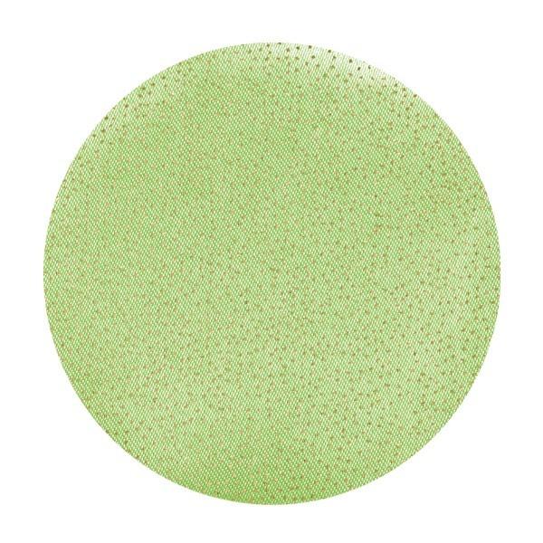 Satin-Kreise, Ø6cm, 50 Stück, Folien-Print-Punkte, grün