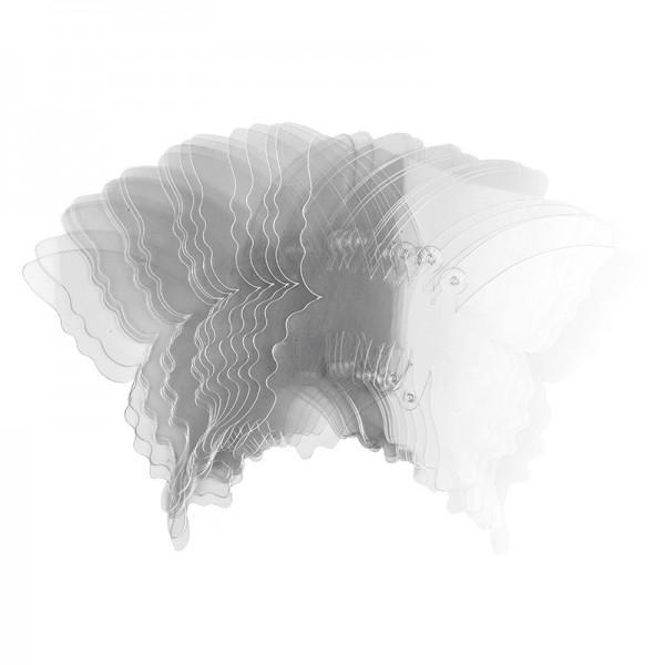 Windradfolien-Scheiben, Schmetterling, 16cm x 14,5cm, transparent, 500µ, 20 Stück
