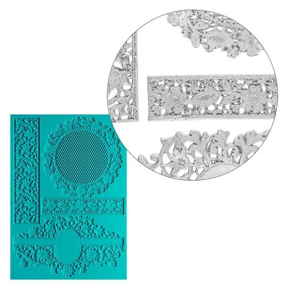 Silikon-Dekormatte, Design 40, 21cm x 15cm x 0,2cm