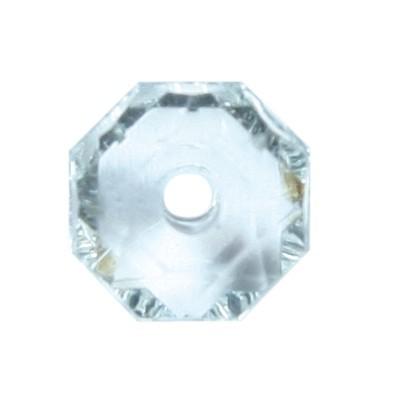 Oktagon-Perlen, transparent, 8,5mm, klar, 50 Stück