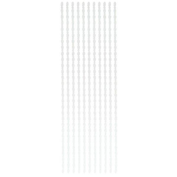 """Glitzer-Bordüren """"Ramona"""", selbstklebend, 10cm x 30cm, 4mm breit, weiß"""
