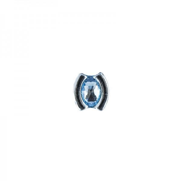 Ornament-Glitzersteine, 50 Stück, Design 10, hellblau