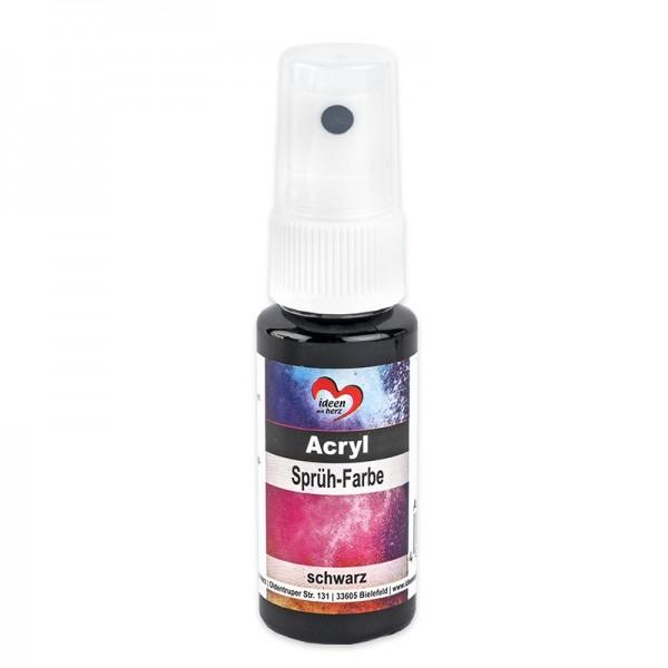 Acryl-Sprüh-Farbe, 25ml, schwarz