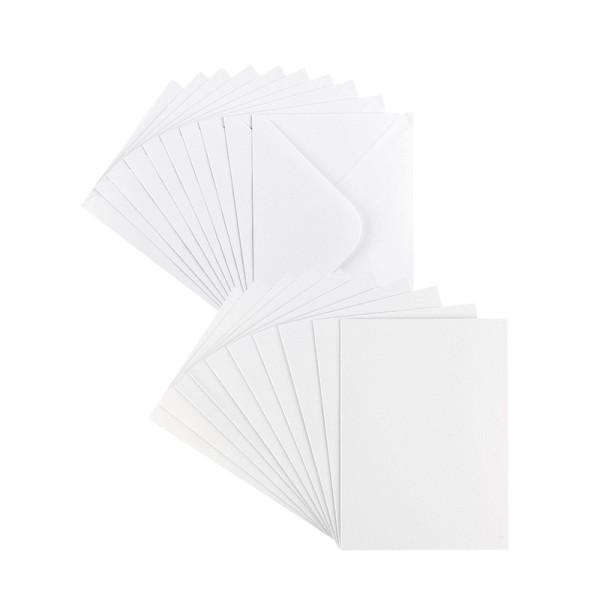 Grußkarten, Perlmutt, C6 (10,5cm x 14,8cm), weiß, inkl. Umschläge, 10 Stück
