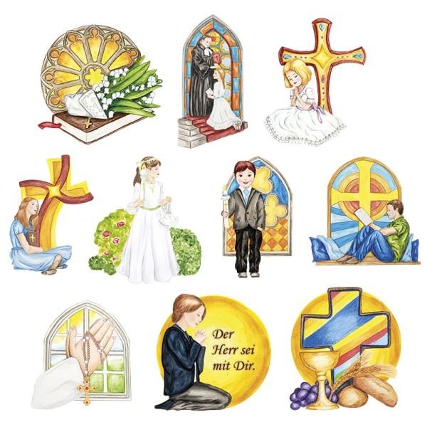3-D Motive, Jugend & Kirche, für Konfirmation, Kommunion & Firmung, 8-11cm, 10 Motive