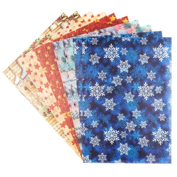 Motiv-Transparentpapiere Deluxe, Winter & Weihnachten 2, DIN A4, 150g/m²,5 versch. Designs, 10 Bogen