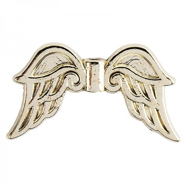 Engelsflügel, Design 3, 3cm, hellgold, 15 Stück