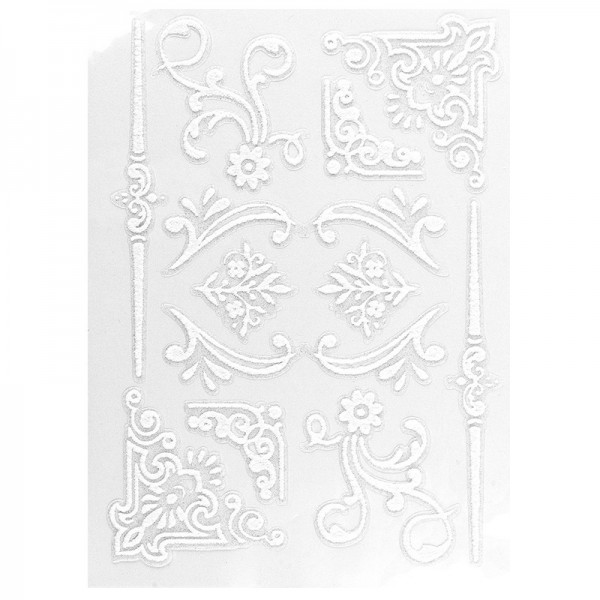 Velours-Stickerbogen, 15 x 11cm, Ornamentik, Design 14