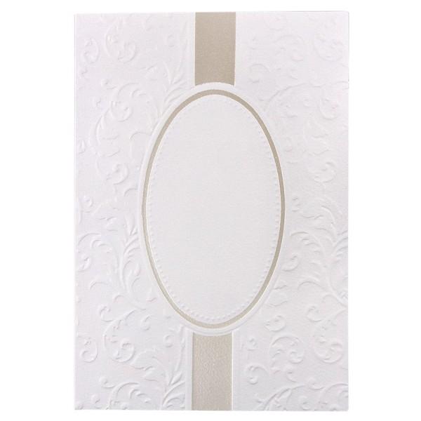 Exquisit-Grußkarten mit Top-Prägung, B6, 10 Stück, weiß mit Oval