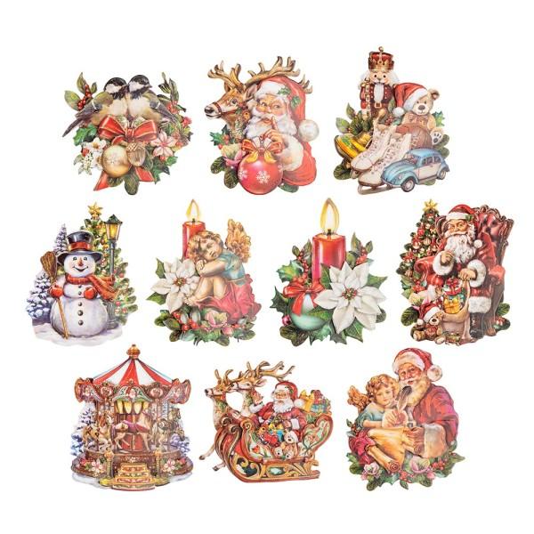 3-D Motive, Weihnachten nostalgisch 2, 8-11cm, 10 Motive