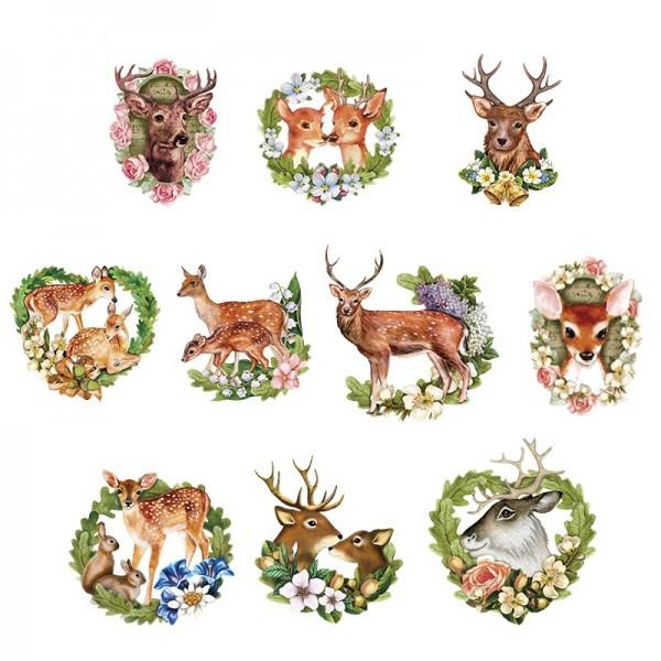 3-D Motive, Wald-Idylle, 6-9 cm, 10 Motive