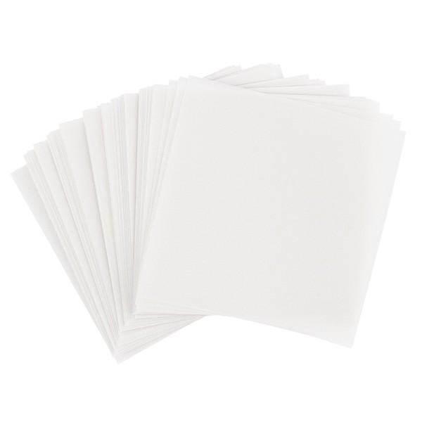 Faltpapiere, transparent, 20cm x 20cm, 110 g/m², weiß, 100 Stück