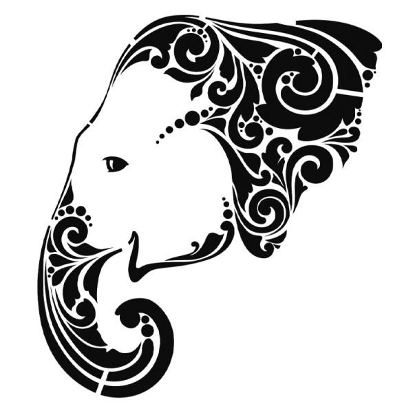 Laser-Kunststoff-Schablone, DIN A4, Elefant