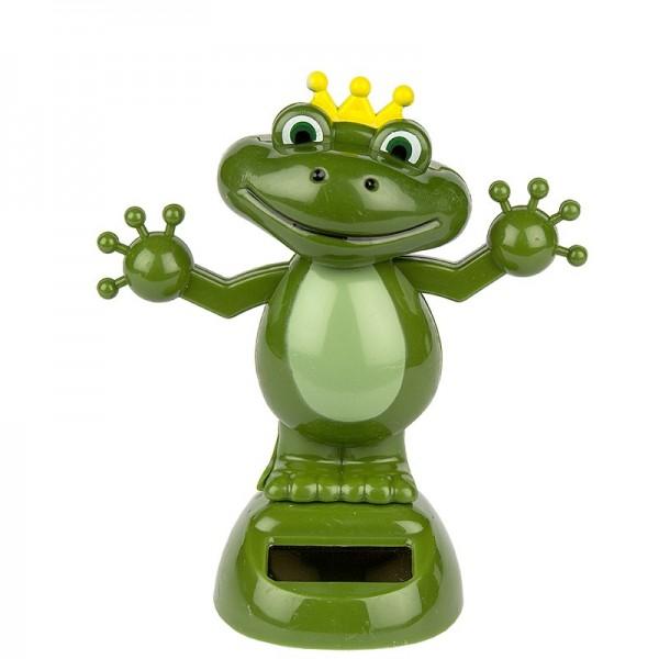 Solar-Wackelfigur, 11cm hoch, Frosch