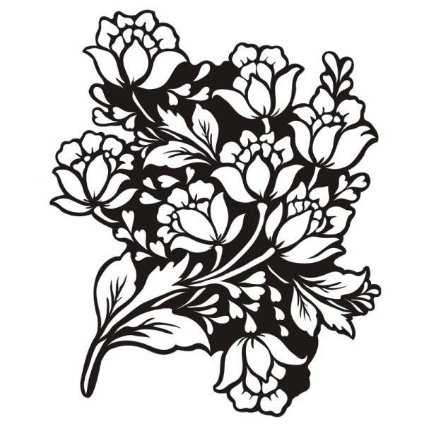 Silhouetten-Laser-Schablone, 24 cm, Blumen