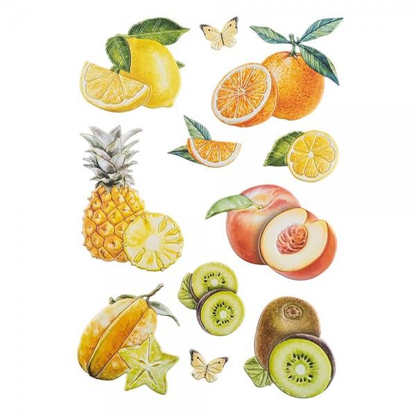 3-D Relief-Sticker, Beerenvielfalt 5, verschiedene Größen, selbstklebend