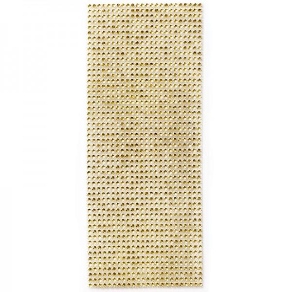Schmuck-Netz, selbstklebend, 12 x 30 cm, gelbgold
